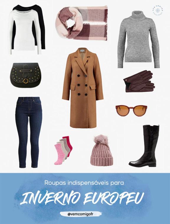 roupas essenciais para o inverno na Europa